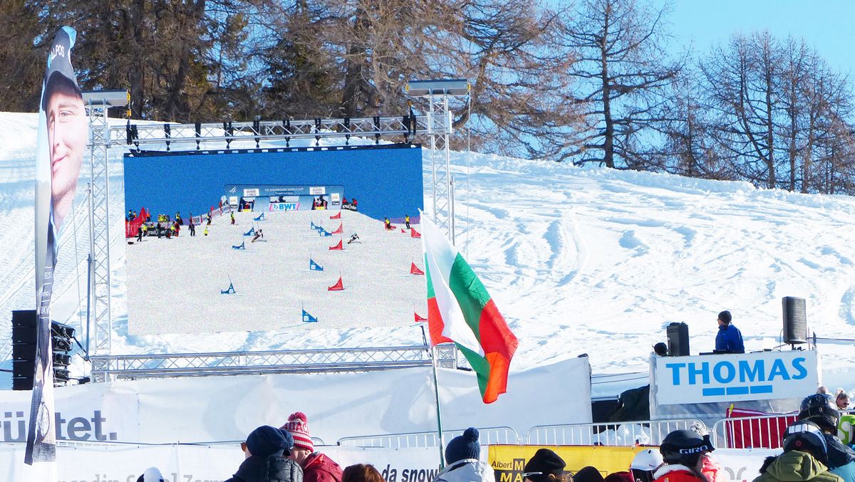 mobile LED-Wand am FIS Weltcup