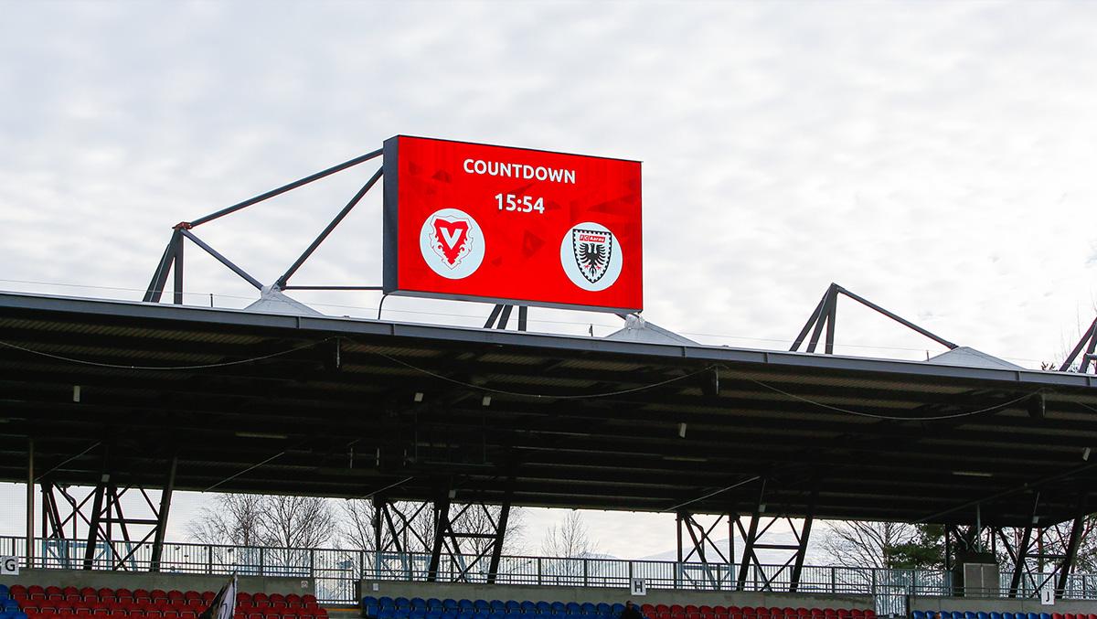 LED-Wand Festinstallation im Stadion Vaduz