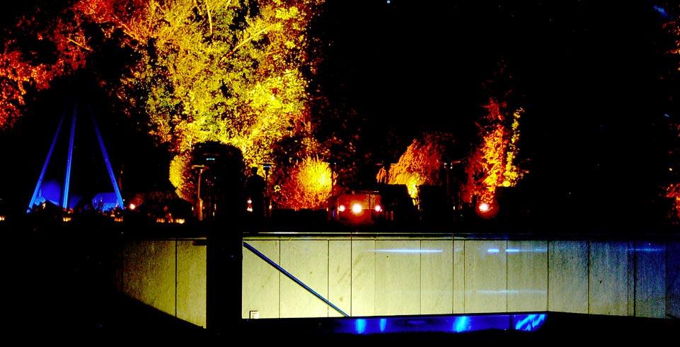 beleuchtete Centrum Bank