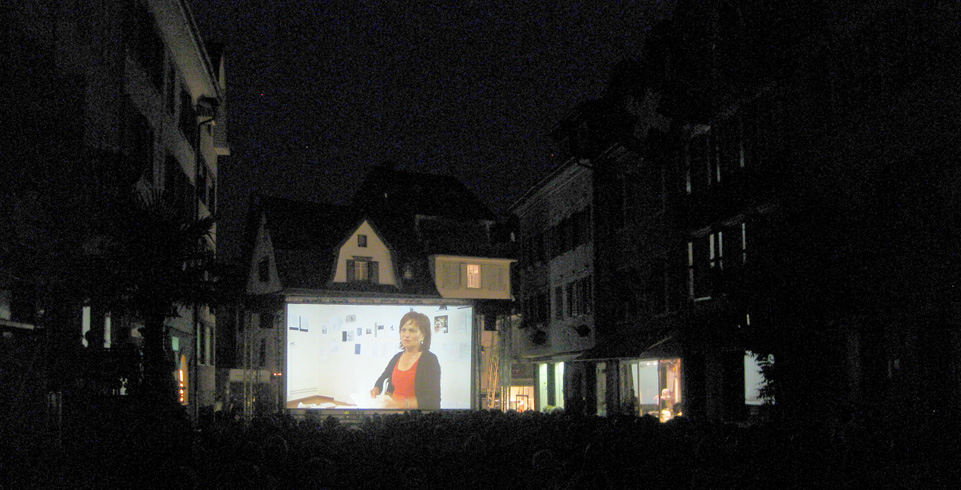 LED Wall an der Open Air Filmpremiere in Altstätten