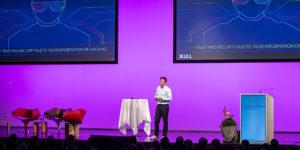 Bühne mit LED Wall und Rednerpult am Finanzforum Liechtenstein 2019