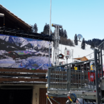 Outdoor LED Wand am Ski World Cup in Adelboden