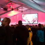 Indoor LED Wand am Ski World Cup in Adelboden
