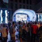 LED Wand Bühne am Staatsfeiertag