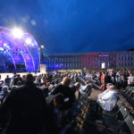 Bühne vom Vaduz Classic Liechtenstein in der Nacht