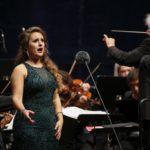 Sängerin am Vaduz Classic in Liechtenstein