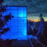 Objektbeleuchtung des Turms auf Gaflei am Tag der Depression