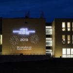 Beleuchtung Fassade Neujahr
