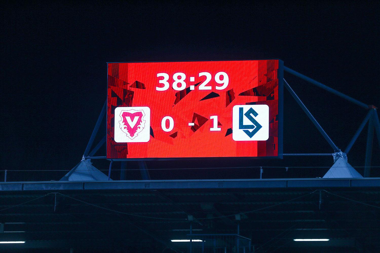 LED Wand beim Rheinpark Stadion in Vaduz