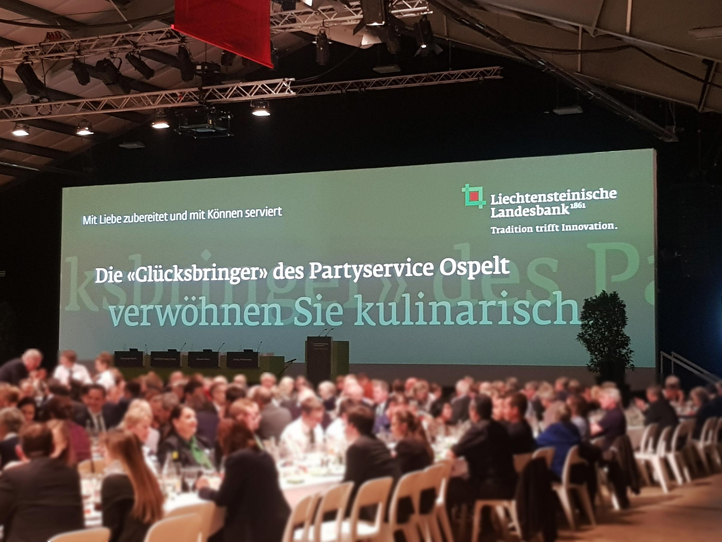 Christie D20WU-HS 1DLP Laser Projektor bei der Liechtensteinischen Landesbank Generalversammlung 2019