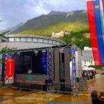 Bühne am Staatsfeiertag Liechtenstein 2019