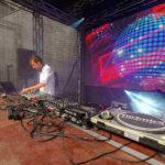 DJ Pult und LED Wand beim Staatsfeiertag Liechtenstein 2019