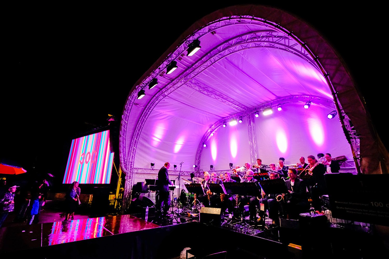 Rundbühne beim Staatsfeiertag Liechtenstein 2019