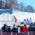 LED Wand am FIS Snowboard Alpin Weltcup in Scuol