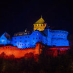 Lichtinszenierung Schloss Vaduz