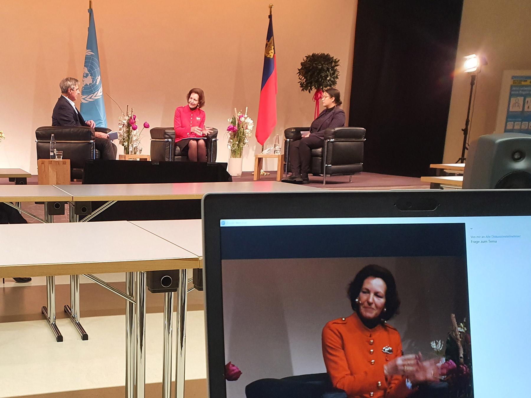 """Livestream des Vortrags der Präsidentin des Menschenrechtsrats der Vereinten Nationen, Elisabeth Tichy-Fisslberger zum Thema """"Menschenrechte im Rahmen der UNO"""" im Rahmen eines digitalen Events"""