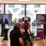 """Ansage von Daniel Risch am digitalen Event """"Digitaltag"""" mit Livestream in Vaduz"""