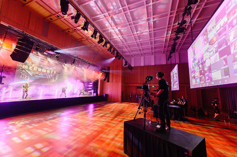 Megawatt am virtuellen Live Konzert im SAL in Schaan