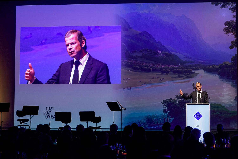 S.D. Prinz Max von und zu Liechtenstein spricht am Jubiläum 100 Jahre LGT
